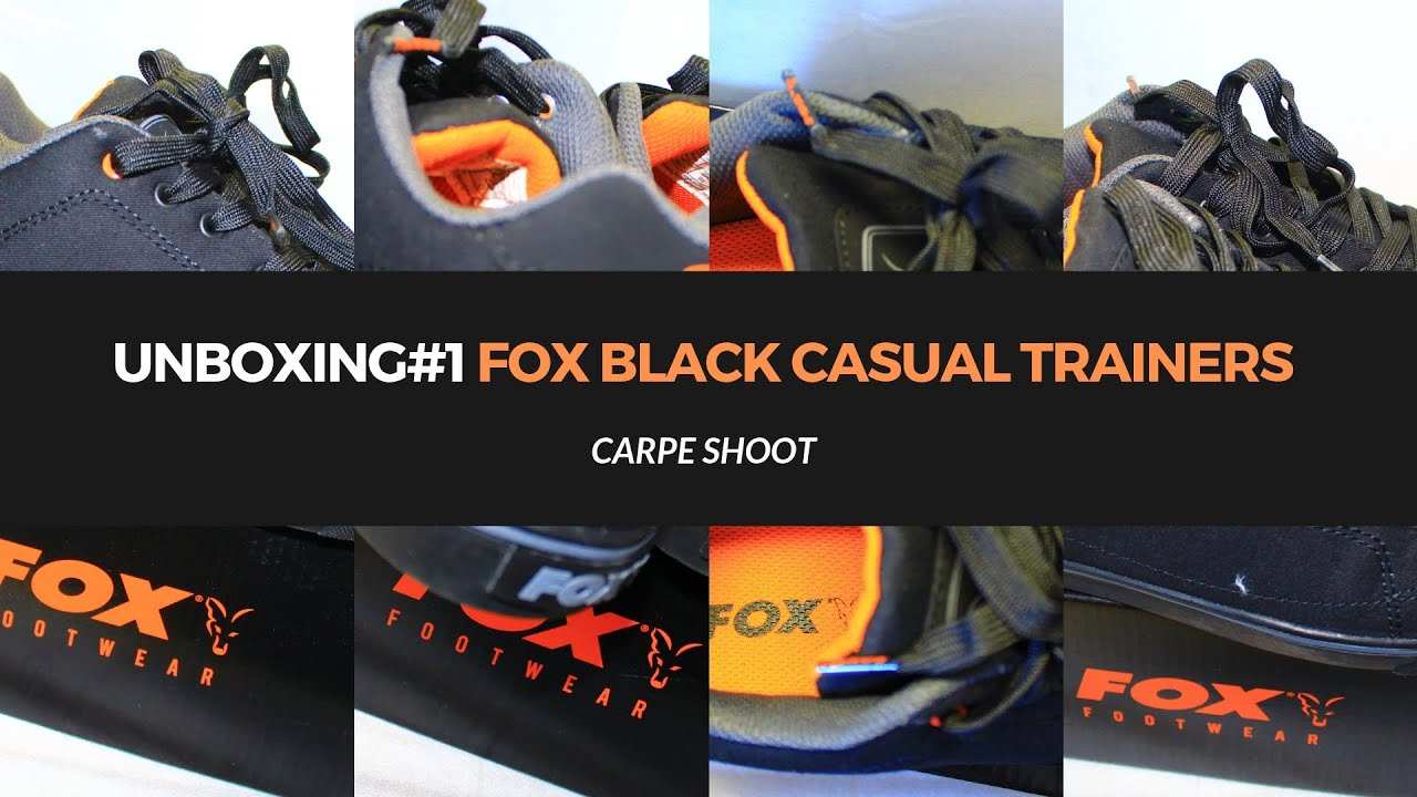 UNBOXING#1 FOX BLACK CASUAL TRAINERS