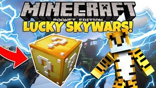LUCKY BLOCK SKYWARS!! - MCPE 1.1.5 | Minecraft PE  (Pocket Edition) | MultiLabs Server (WORKING)