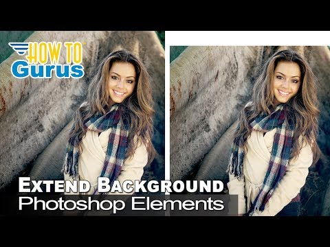 How To Extend or Stretch the Background of a Photo in Photoshop Elements 2020 2019 2018 15 14 13