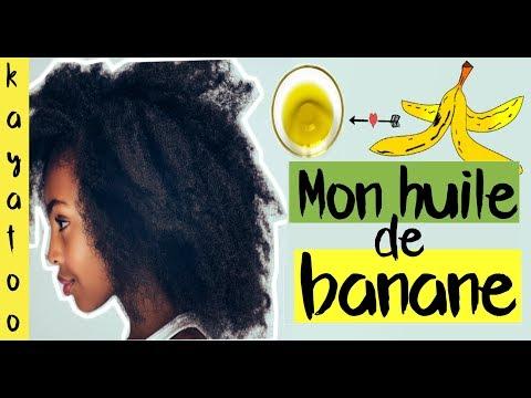 😍MON HUILE DE PEAUX DE BANANE POUR DES CHEVEUX DOUX QUI POUSSENT PLUS VITE | KAYATOO