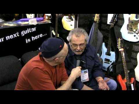Dan Erlewine with Trev Wilkinson at the NAMM Show