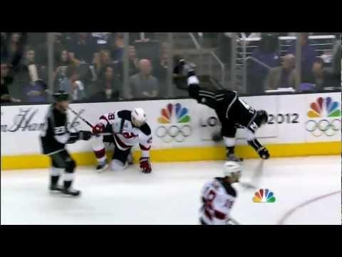 Alec Martinez hit on Travis Zajac. June 11th 2012
