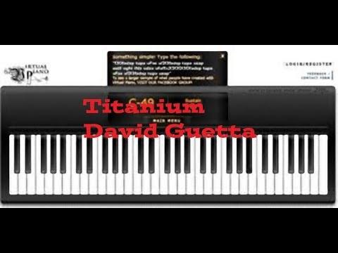 Virtual Piano Titaniumdavid Guetta Youtube