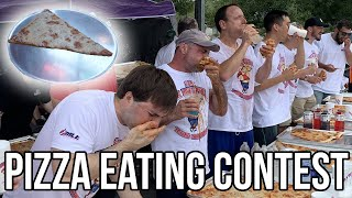 TWO FOOT LONG PIZZA EATING CONTEST | NEW WORLD RECORD
