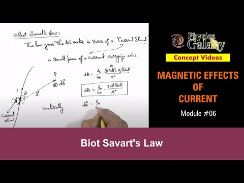 6  Class 12th Physics | Magnetic field | Biot Savart's Law | by Ashish Arora