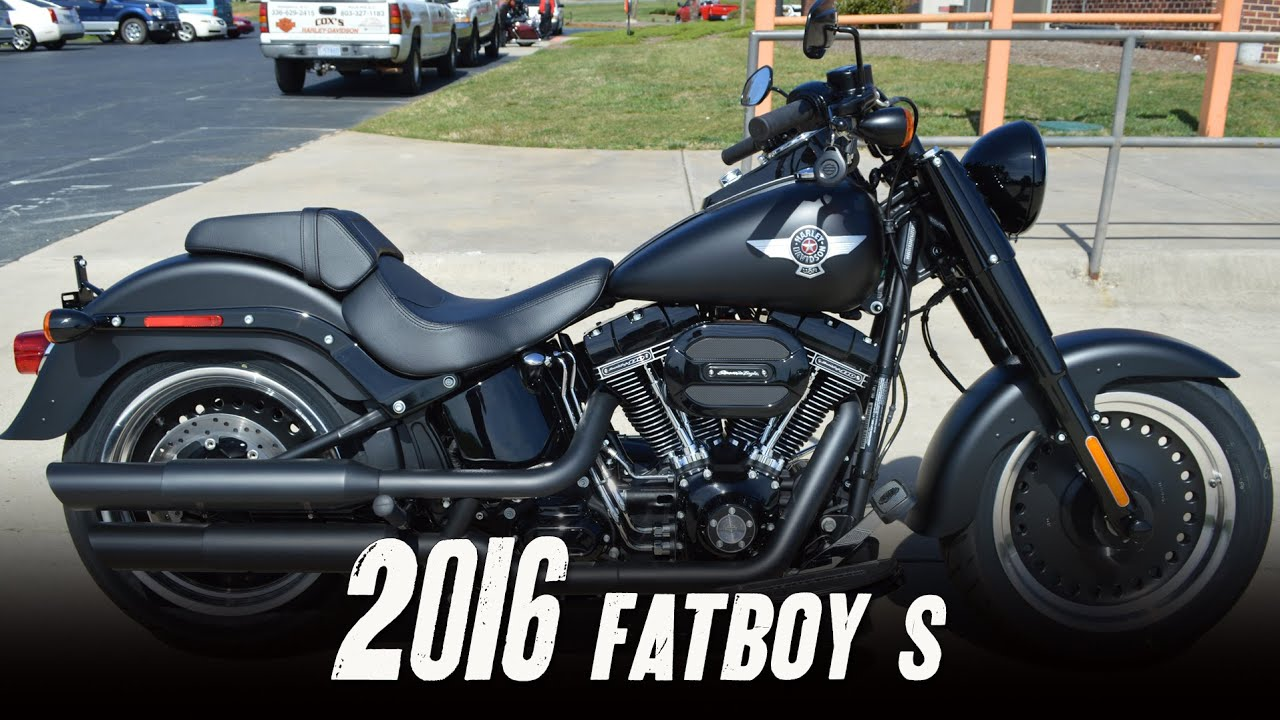 sold! 2016 harley-davidson® flstfbs - fat boy® s black denim - youtube