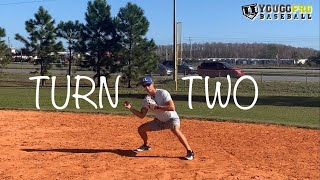 How To Turn 2 (from shortstop) Footwork & Throwing Mechanics