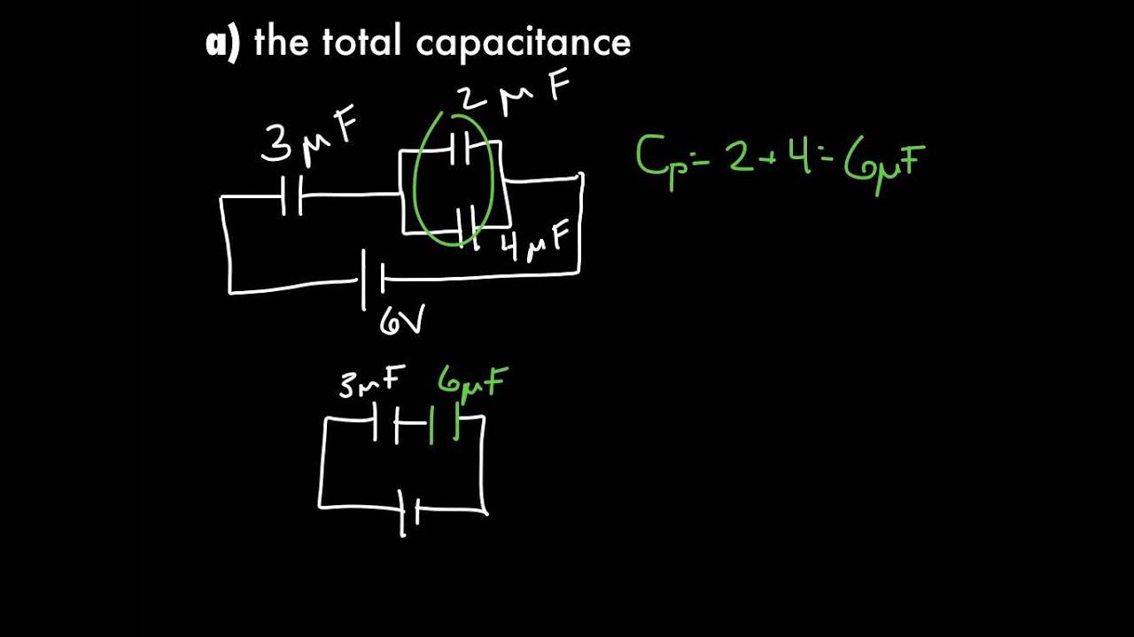Example Problems Capacitors In Circuits Youtube Circuit Diagram Numericals