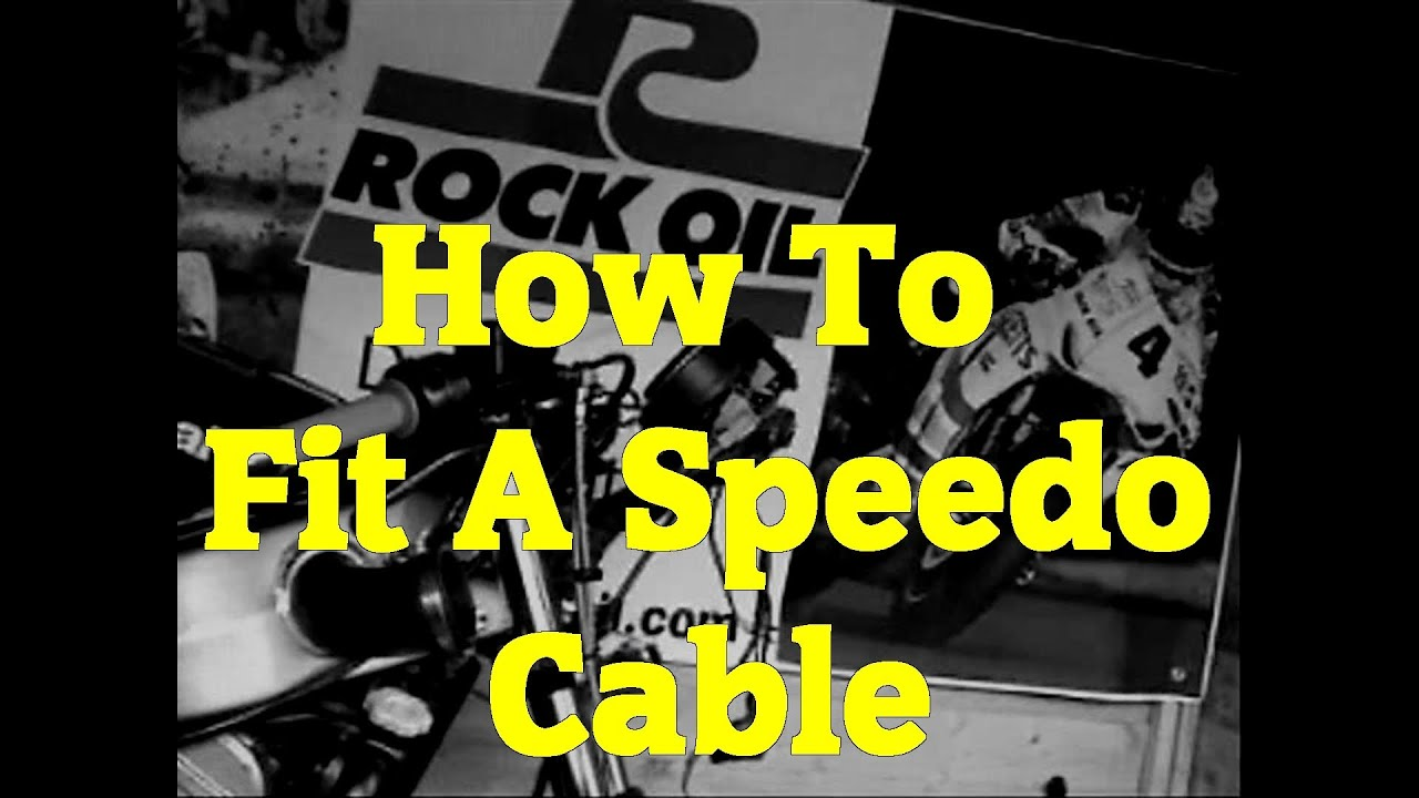 how to fit a speedo cable on your motorbike  motorcycle