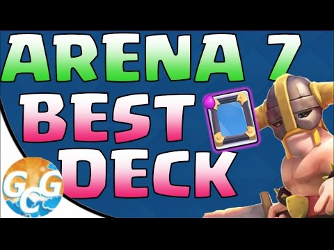 Best Deck For Arena 7 In Clash Royale No Legendaries Youtube