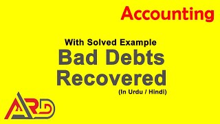 Bad Debt Recovered