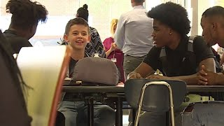 'We've got his back': Some upperclassmen befriend freshman with no one to sit with during lunch