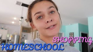 IS SHOPPING HARD TO DO? HOW IS EMMA'S HOMESCHOOL GOING?