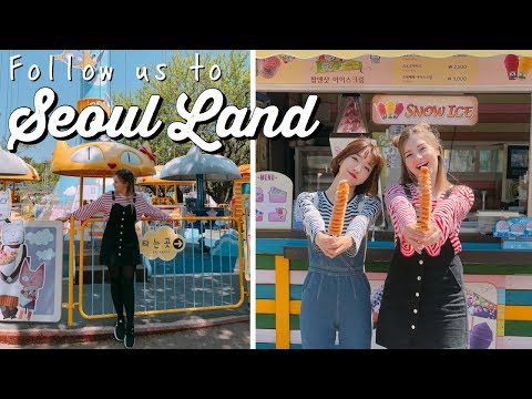 KOREA VLOG: First Time at Seoul Land Amusement Park 🎡