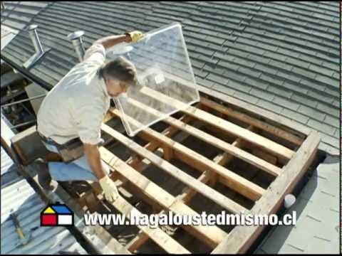Cómo instalar una cúpula acrilica en el techo?   youtube