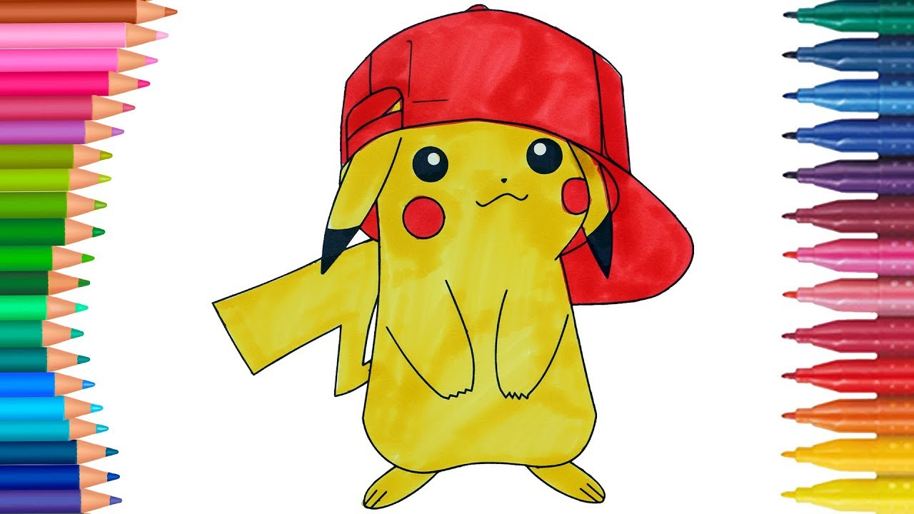 Pokemon Pikachu Per Bambini Come Disegnare E Colorare Piccole