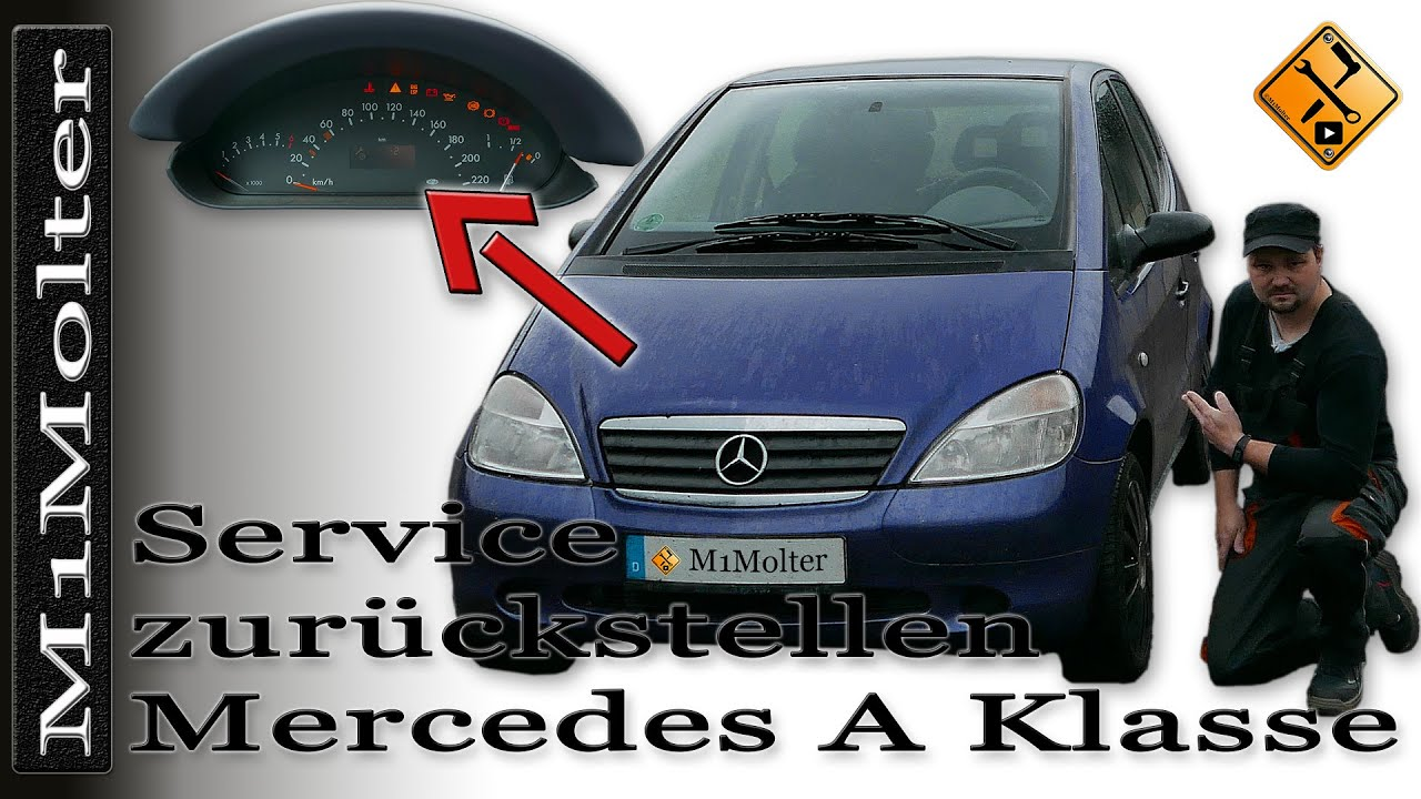 service zur ckstellen mercedes a klasse w168 youtube. Black Bedroom Furniture Sets. Home Design Ideas