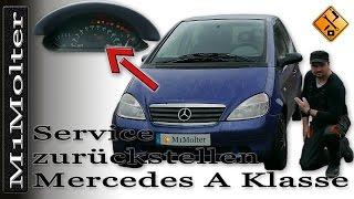 Service Zurückstellen Mercedes A Klasse W168