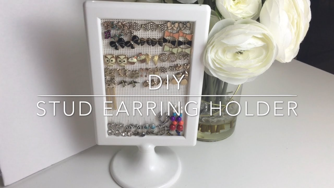 DIY Stud Earring Holder | Jewelry Organization - YouTube