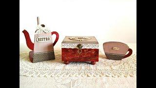 DIY Tea Box !! Juego de Té con Patina Fácil y Rápida!!