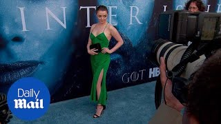 Gorgeous in green! Maisie Williams at Game of Thrones S7 premiere - Daily Mail