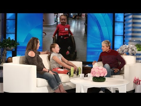Ellen Meets Wildfire Survivor and 9YearOld Amputee Lilly Biagini