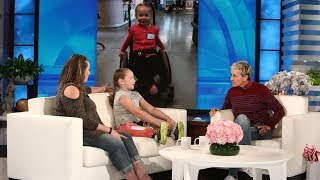 Ellen Meets Wildfire Survivor and 9-Year-Old Amputee Lilly Biagini