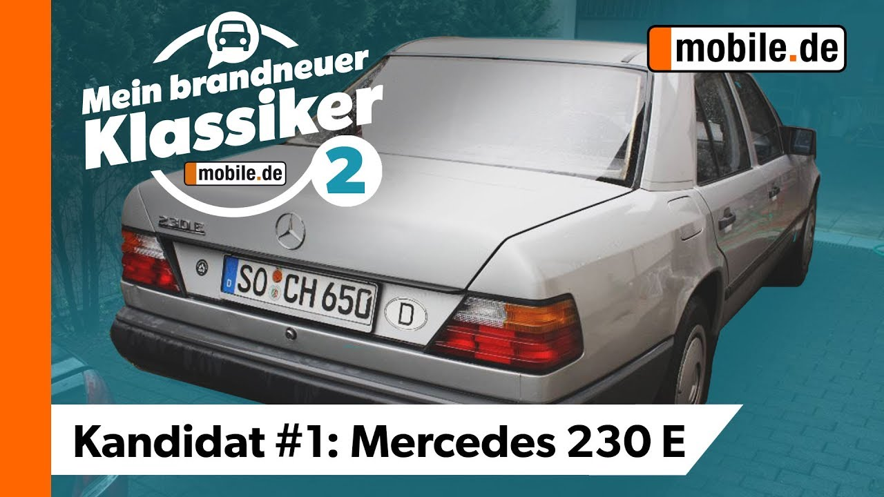 oldtimer serie mercedes 230 e mein brandneuer klassiker youtube. Black Bedroom Furniture Sets. Home Design Ideas