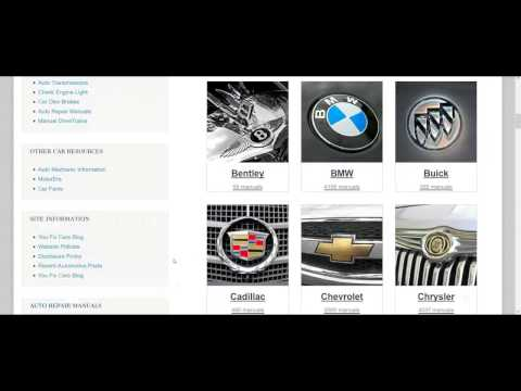 PDF Auto Repair Service Manuals
