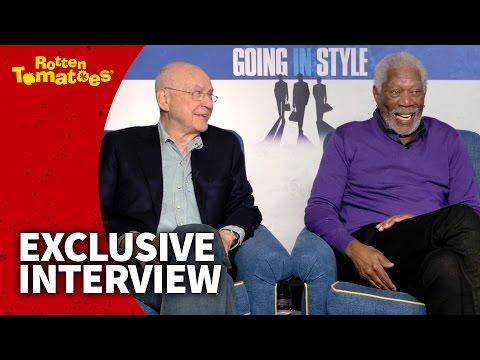 Morgan Freeman Has a Brand-New Thing For Handcuffs - Exclusive 'Going in Style' Interview (2017)