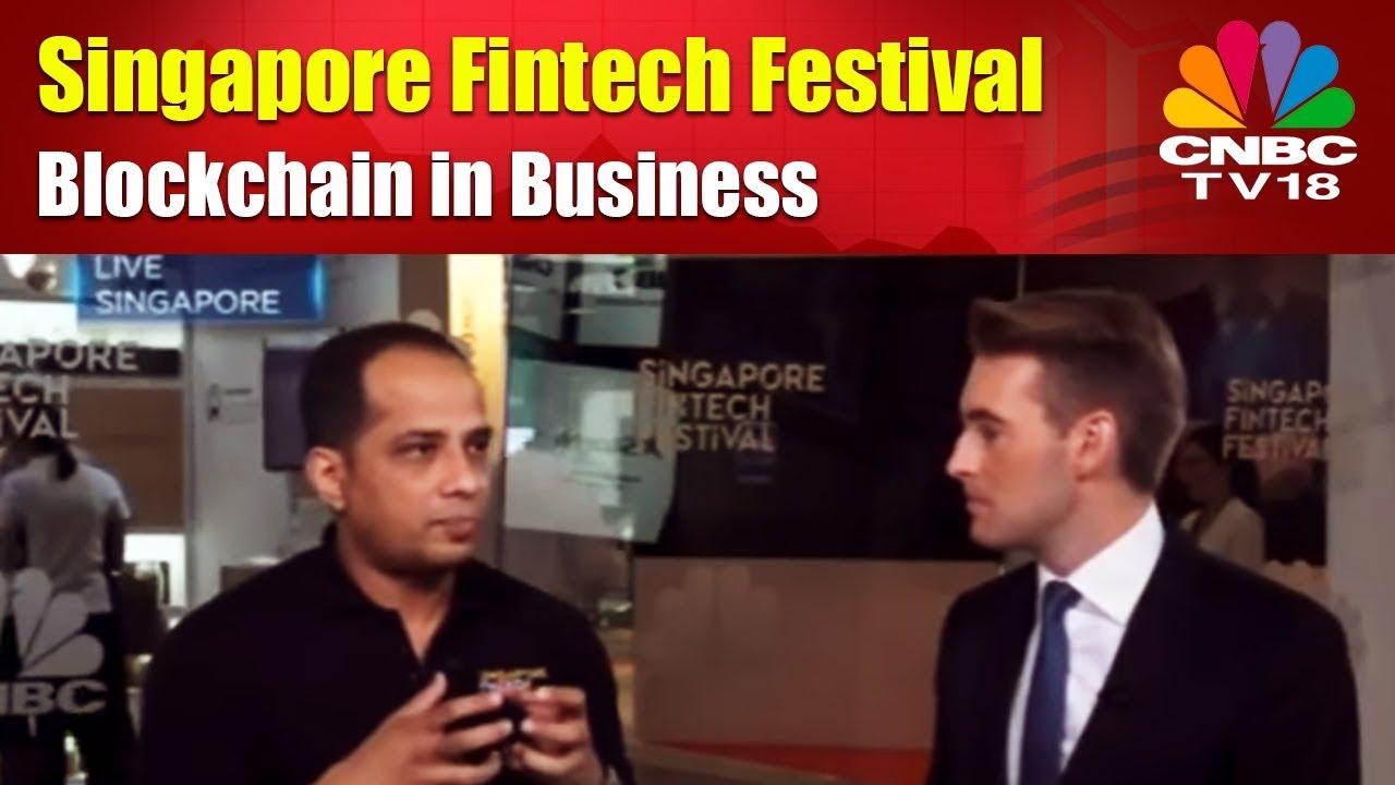 singapore fintech festival   blockchain in business   cnbc tv18, Cnbc Presentation Template, Presentation templates