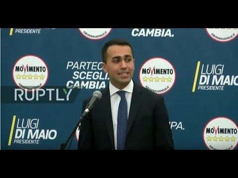 LIVE: Di Maio holds press conference following general election