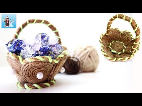 Handmade Basket DIY Ideas from Jute Twine Rope Art and Craft