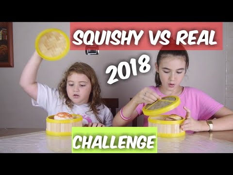 SQUISHY VS REAL FOOD CHALLENGE 2018 by Marghe Giulia Kawaii