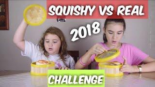 SQUISHY VS REAL FOOD CHALLENGE 2018 by Marghe Giulia Kawaii