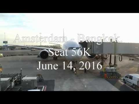 EVA AIR Boeing 777ER AMS-BKK v.v. Full Flight in Economy