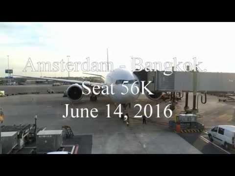 EVA AIR Boeing 777ER AMS-BKK v.v. Full Flight in Economy