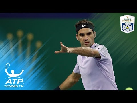 Roger Federer breathtaking shots vs Dolgopolov | Shanghai Rolex Masters 2017 Highlights Day 4