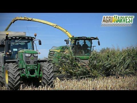 JOHN DEERE 8800i + 12 Rows Krone EasyCollect | Corn silage 2016 | 4K