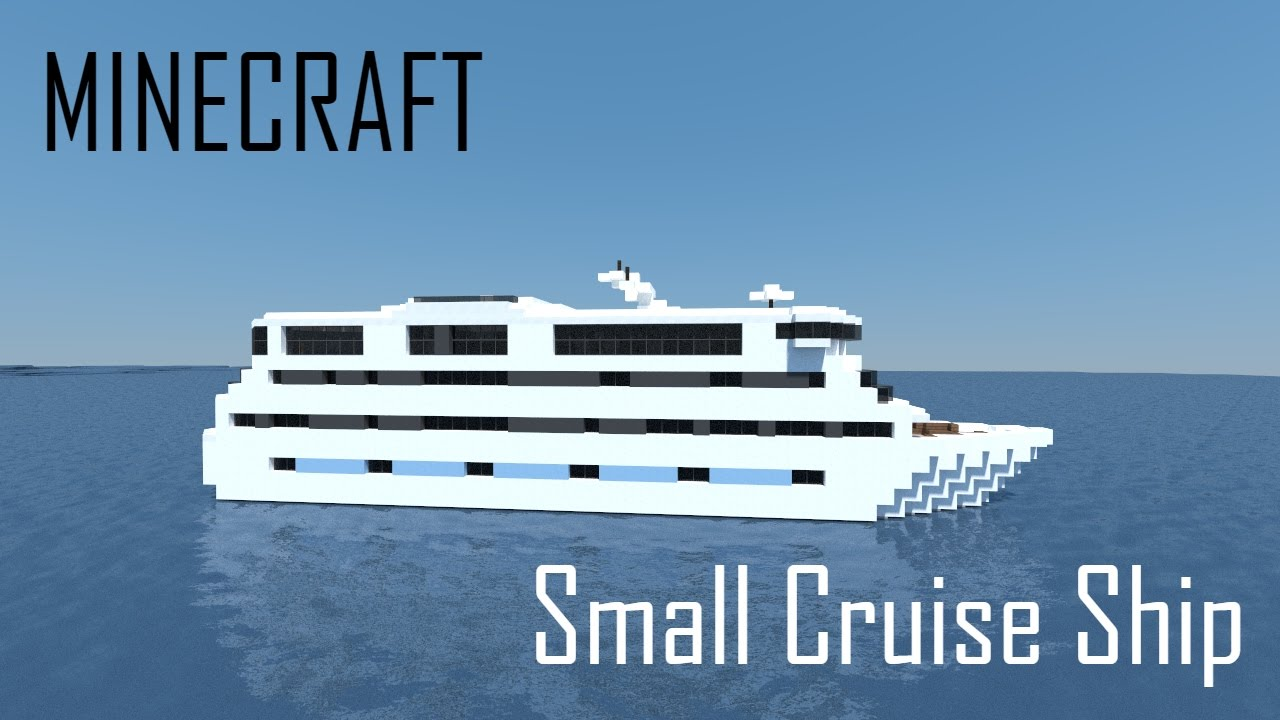 Minecraft small cruise ship full interior download for Small cruise ship lines