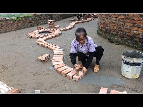 Innovative Construction Uses Bricks And Mortar To Create A Spiral Line - Building Smart Bricks