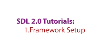 SDL 2.0 Tutorials: 1.Setting up a Framework for our game
