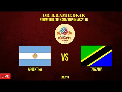 Argentina vs Tanzania Men's | Dr. B.R.Ambedkar 6th World Cup Kabaddi Punjab 2016 | Live | 4th Nov