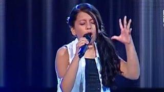 María Fernanda canta Cuando llora mi guitarra   La Voz Kids Perú   Audiciones a ciegas   Temporada 3