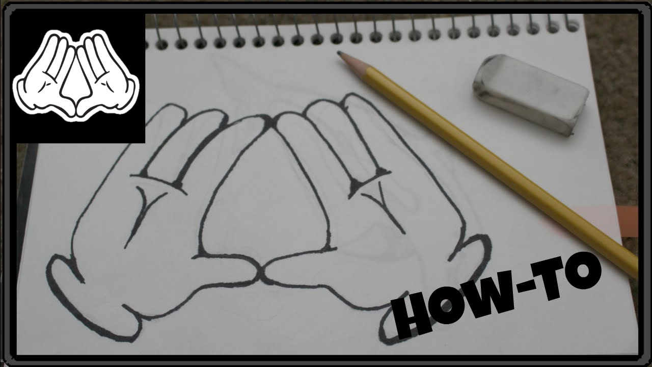 How to draw dope hands