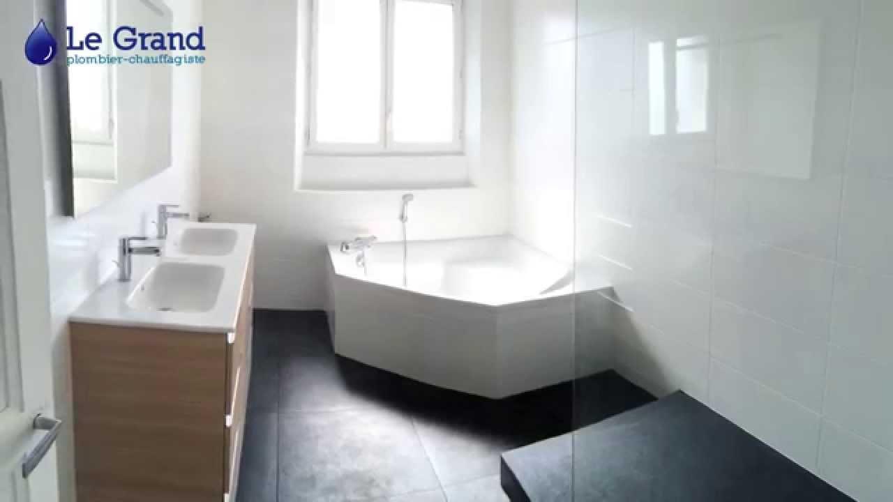 le grand plombier salle de bains rennes time laps youtube. Black Bedroom Furniture Sets. Home Design Ideas
