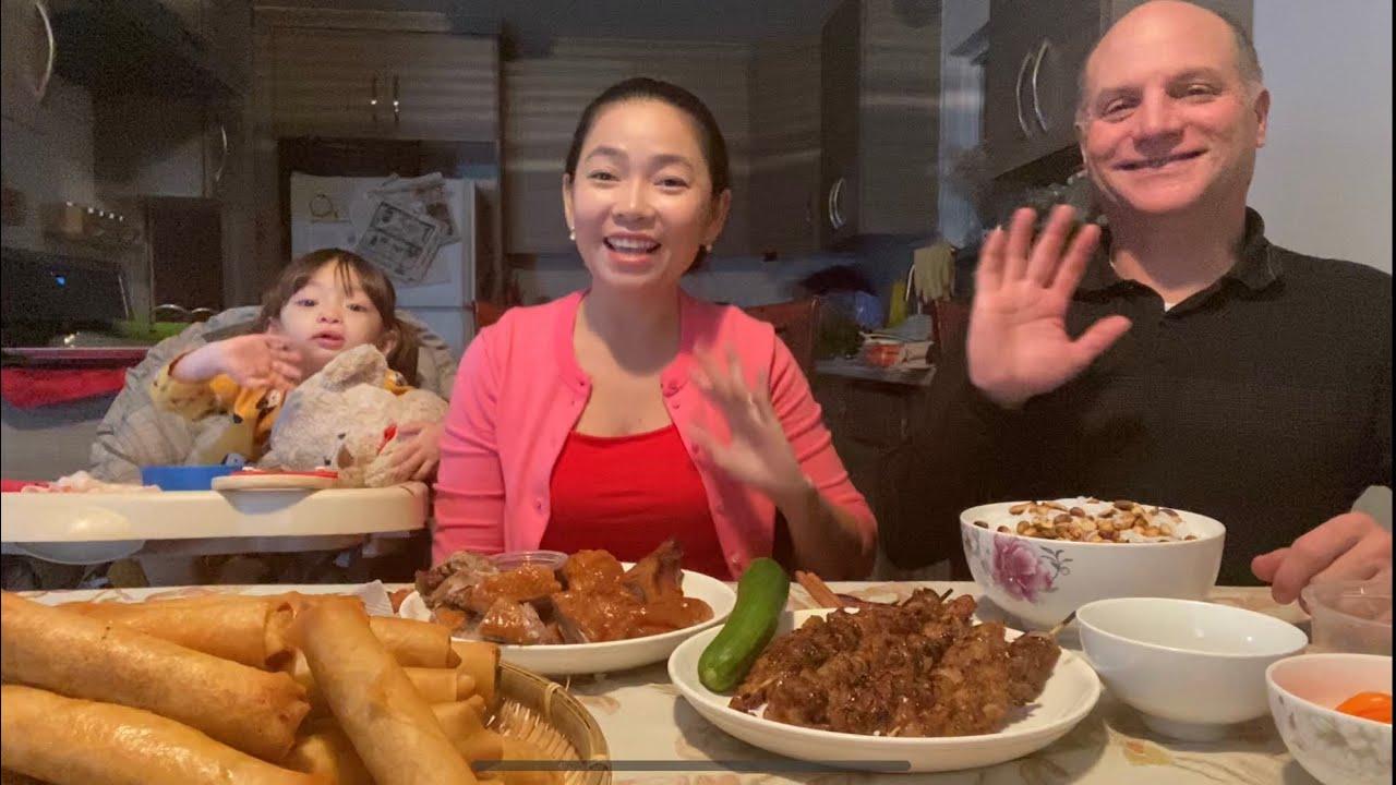 Làm Mâm Chả Giò Tôm Thịt Mang Lên Nhà Ba Mẹ Nhân Ngày Lễ Tạ Ơn & Làm Cho Chồng Tô Bún Thịt Nướng.