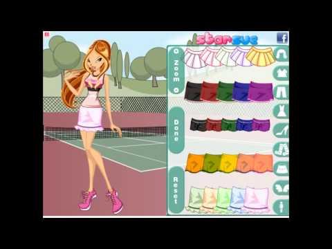 #4 Играем в игры winx (Флора собирается на тенис)