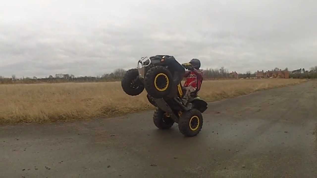 Can Am Renegade 800 >> NEW CAN AM RENEGADE 1000 XXC WHEELIE RIDE OUT 4X4 SLOW MO ...