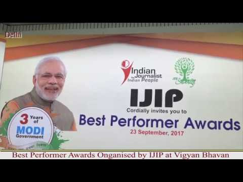 Best Performer Award By IJIP , BJP Minister Of State for Health and  Family Welfare : Ashwin Chobey